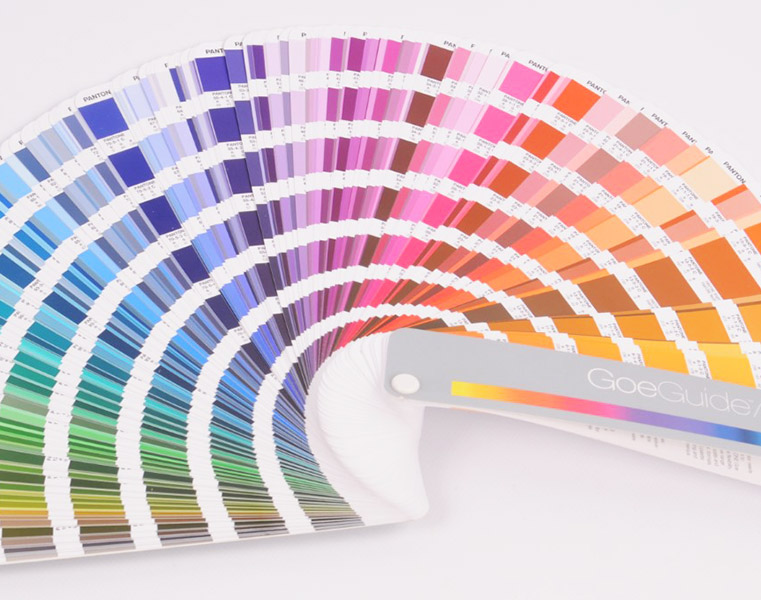 Pantone Colour Palette Showing Colours We Can Use